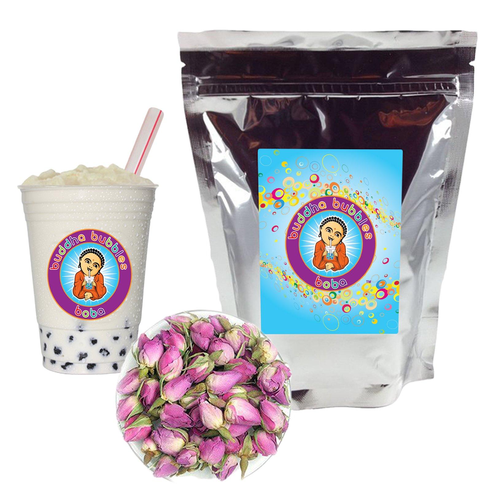 Rose Boba / Bubble Tea Drink Mix Powder By Buddha Bubbles Boba 1 Kilo (2.2 Pounds)   (1000 Grams) by Buddha Bubbles Boba