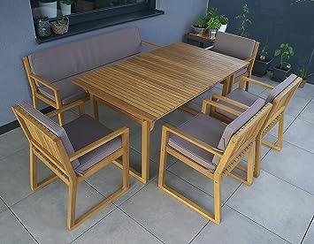 Gartenmöbel set holz mit bank  Amazon.de: vanvilla Gartenmöbel Set Holz Sitzgruppe Garten Garnitur ...