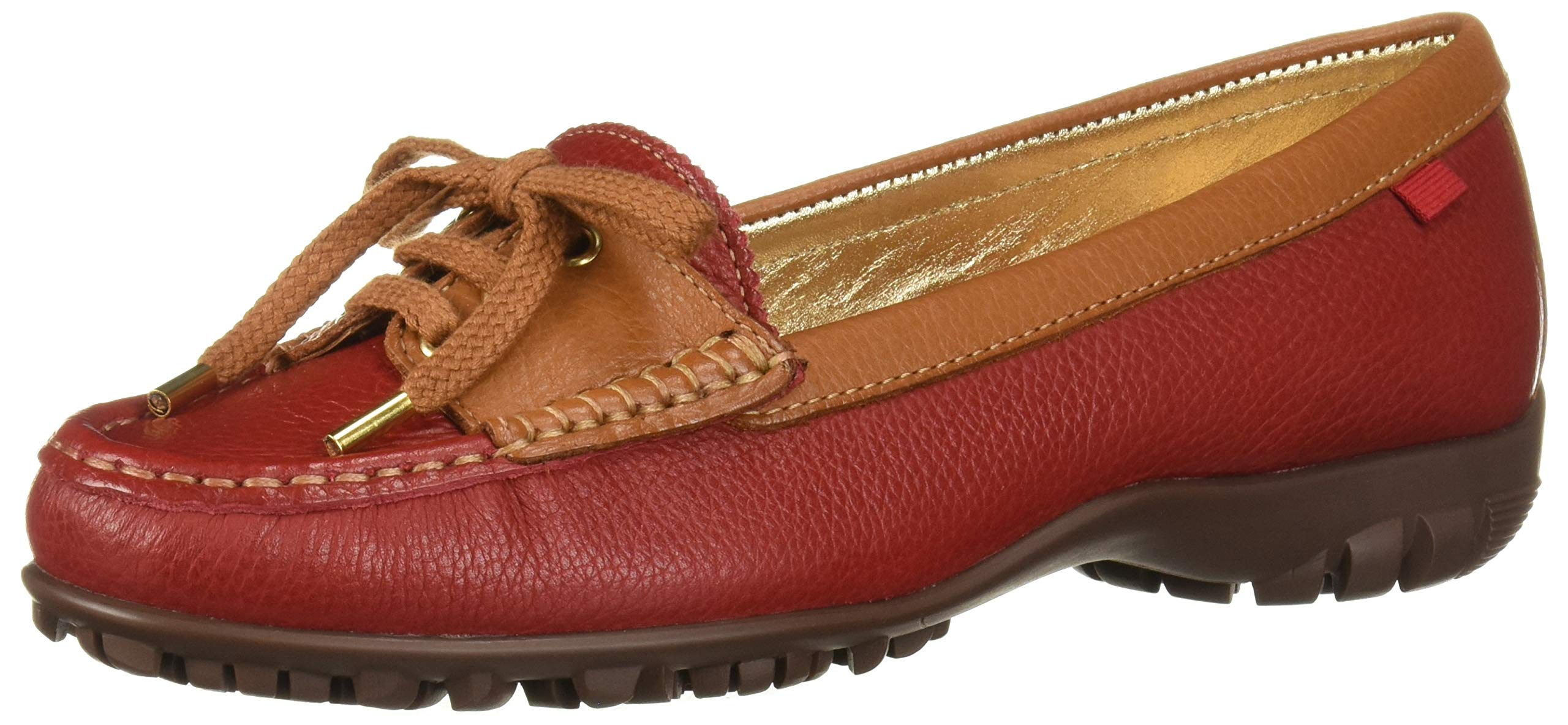 MARC JOSEPH NEW YORK Womens Leather Made in Brazil Liberty Golf Shoe, red Grainy, 10 M US by MARC JOSEPH NEW YORK
