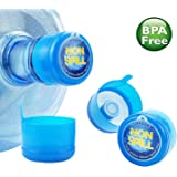 3 & 5 Gallon Water Jug Cap Replacement Non Spill Bottle Caps with Cap-Opener Anti Splash Peel Pack of 20