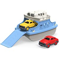 Green Toys FRBA-1038 Ferry Boat with Mini Cars Bathtub Toy, Blue/White