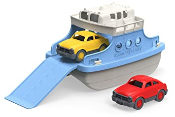 Amazon green toys ferry boat with mini cars bathtub toy blue green toys ferry boat with mini cars bathtub toy bluewhite sciox Images