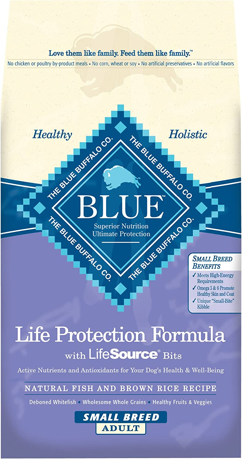Blue Buffalo Small Breed Life Protection Formula Fish Brown Rice Adult Dog Food