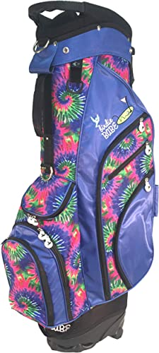 Birdie Babe Womens Hybrid Golf Bag Blue Tie Dye Ladie
