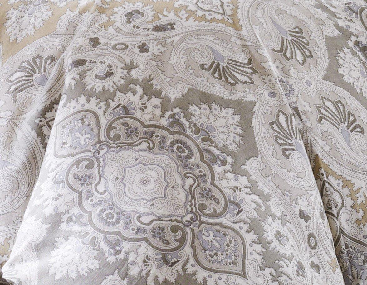 100/% Cotton Bedroom Comforters E/&E Co Grey Ltd DBA JLA Home EO10-540 Echo Design Odyssey King Size Bed Comforter Set 4 Pieces Bedding Sets Paisley