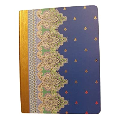 "Studio C Carolina Pad College Ruled Foil Cover Composition Book ~ Taj Mahal (Blue, Green and More; 7.5"" x 9.75""; 100 Sheets, 200 Pages): Toys & Games"