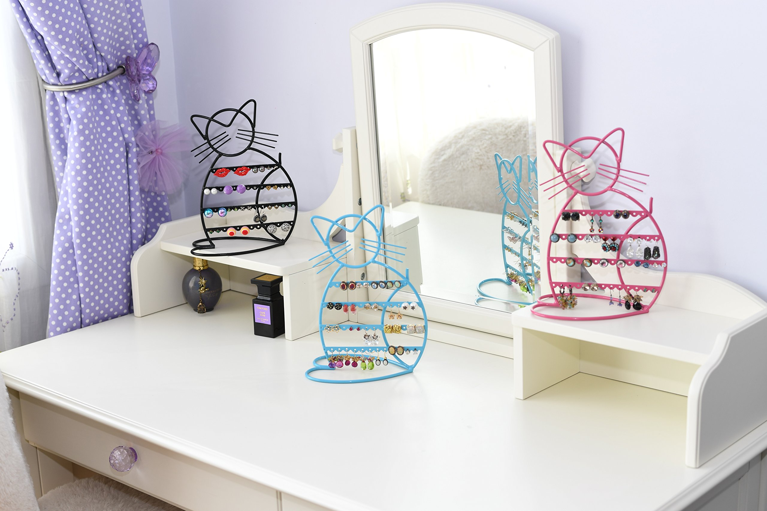 ARAD Metal Jewelry Cat, Holder Organizer-Hanging Jewelry Display Earrings & Other Piercings by ARAD (Image #2)