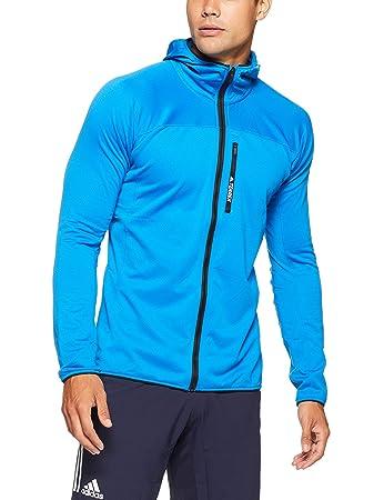 half off bbbe5 d4cd0 adidas Men s Terrex Tracerocker Hooded Fleece Jacket, Shock Blue, ...