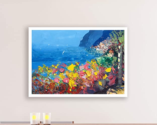 Amazon Com Positano Painting Acrylic Art On Canvas Italy Amalfi