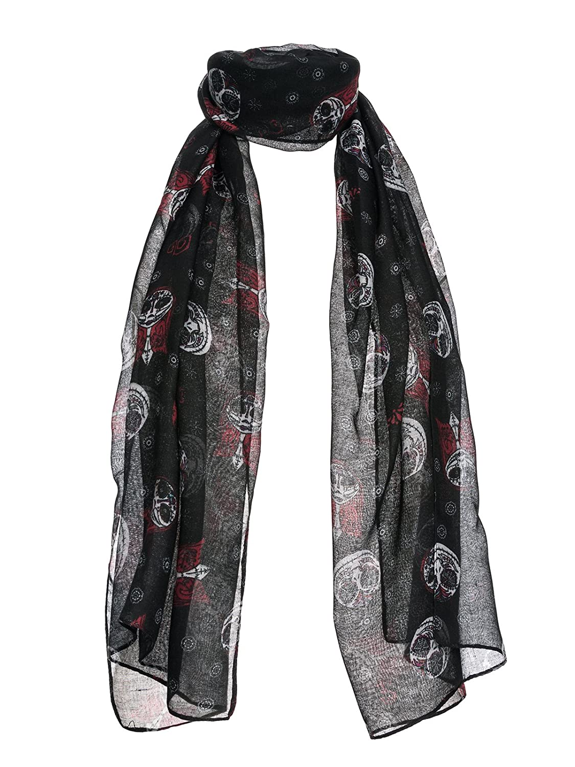 The Nightmare Before Christmas Jack And Sally Scarf multicolour ...