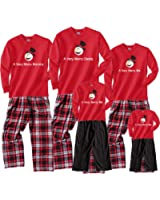 A Very Merry Mommy, Daddy and Me Christmas Snowman Pajama Pant Sets for Family Adults; Playwear for Kids