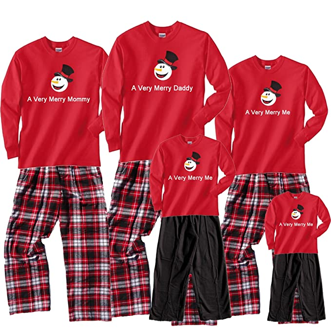 Flannel Snowman Family Christmas Pajama Sets