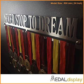 Porta medaglie//Medagliere da Parete Medal Hanger MEDALdisplay Never Stop TO Dream