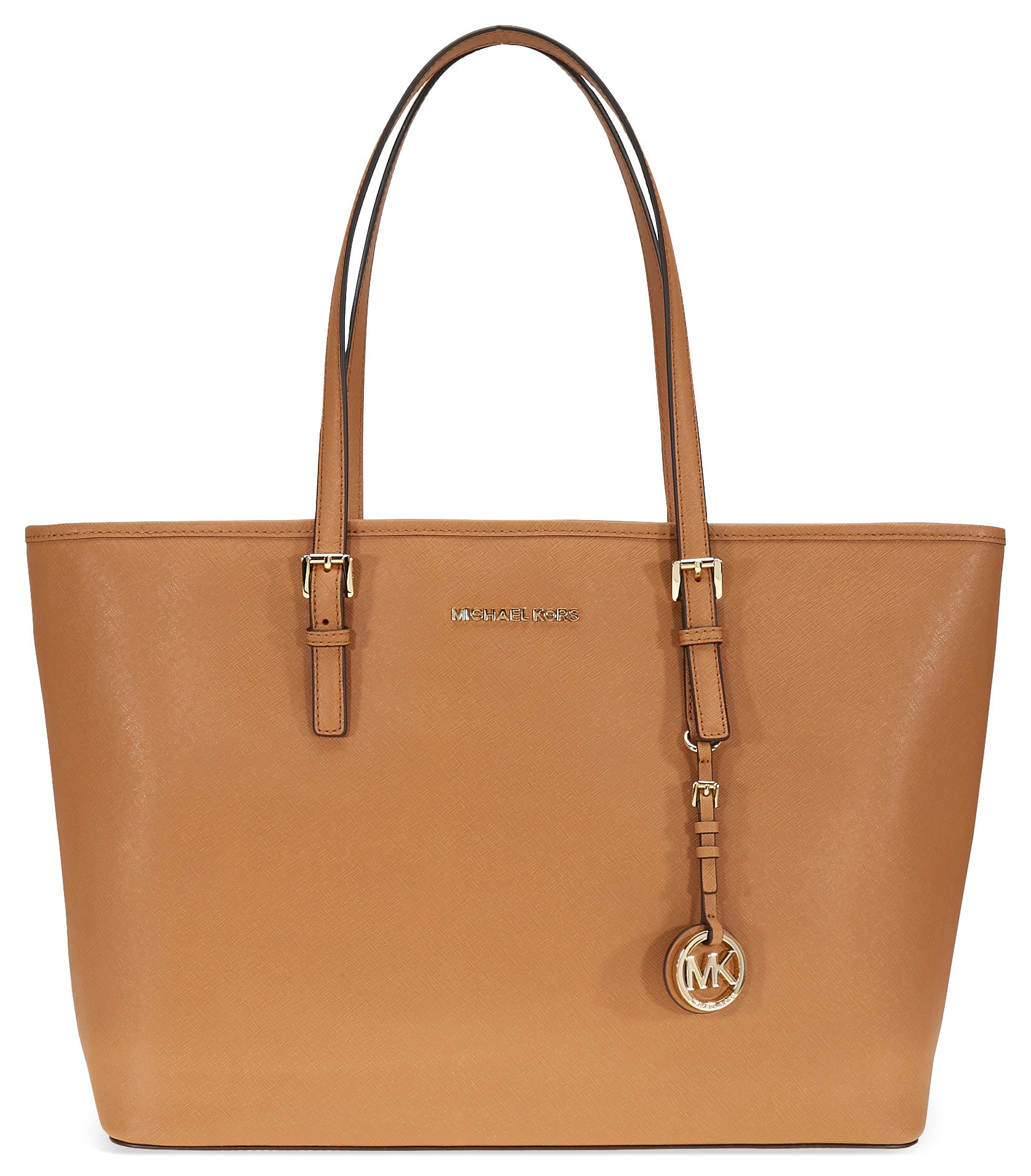 Michael Kors Jet Set Medium Travel Saffiano Leather Tote - Acorn
