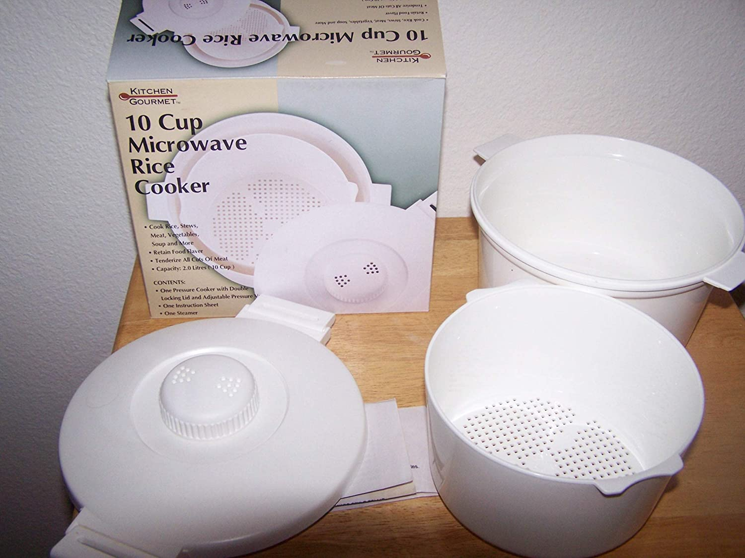 10 Cup Rice Cooker, White-by Continental