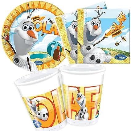 37 piezas Party * Frozen Olaf - El muñeco de nieve * con ...