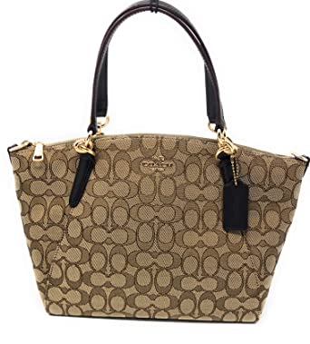99b2230e030f Image Unavailable. Image not available for. Color  SMALL KELSEY SATCHEL IN SIGNATURE  JACQUARD