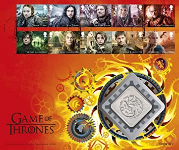 Fire And Blood Great Britain Royal Mail Collectors 2018 Stamps Medal Cover Game Of Thrones