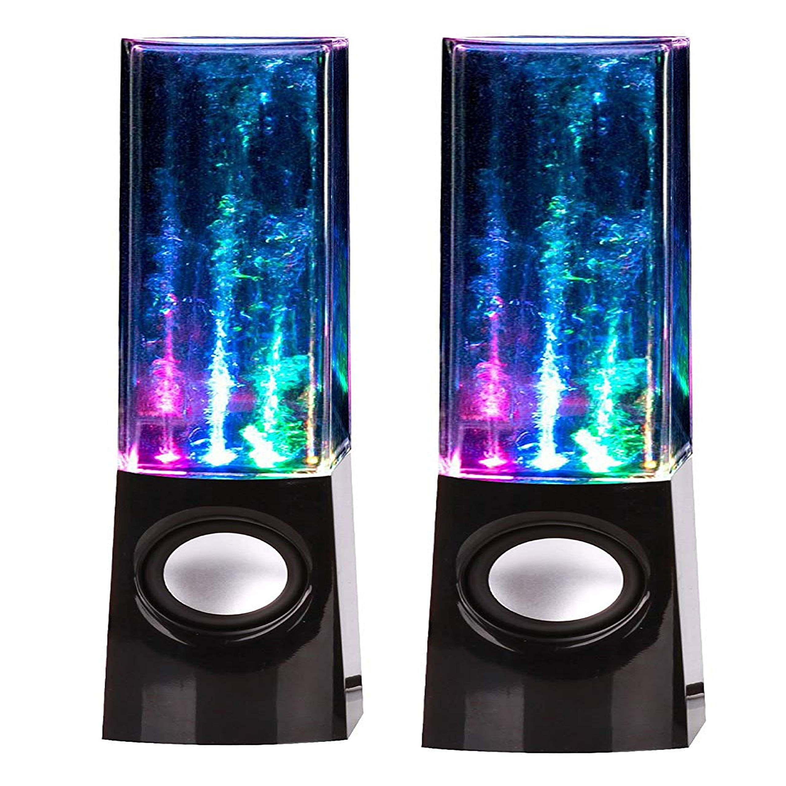 LED Multi-Color Illuminated Dancing Water Speaker for iOS and Android Smart Phone|Fountain LED Portable Built-in Amplifier, Hi-Fi Stereo Speakers