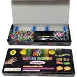 Loom Bands Friendship Bracelet Kit - 600 Latex Free Bands + 24 S-Clips