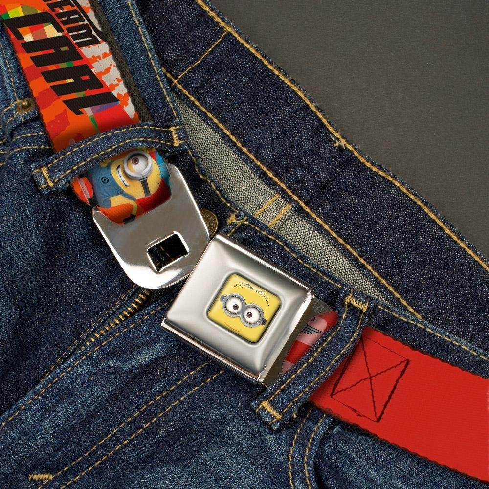 Minion Carl Poses//TEAM CARL 20-36 Inches in Length Buckle-Down Seatbelt Belt 1.0 Wide