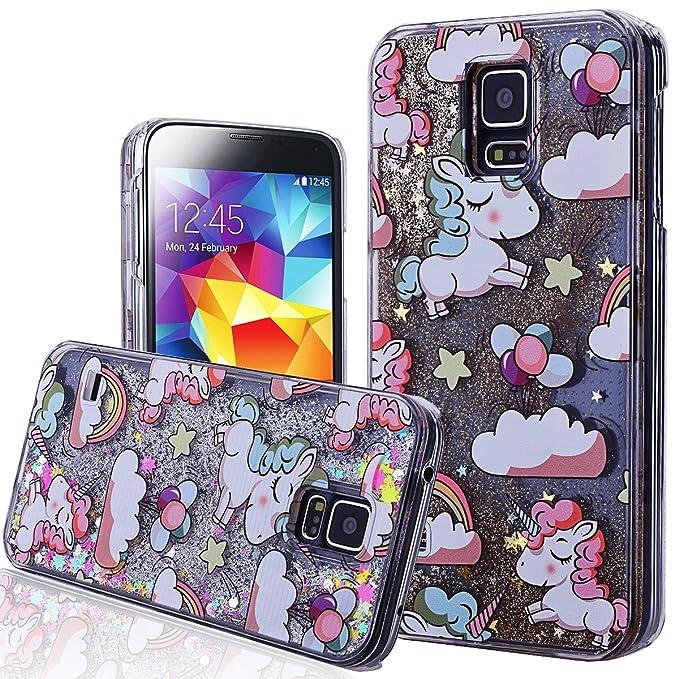 1 opinioni per WE LOVE CASE Cover per Samsung S5 Custodia Glitter Galaxy S5 Cover Trasparente