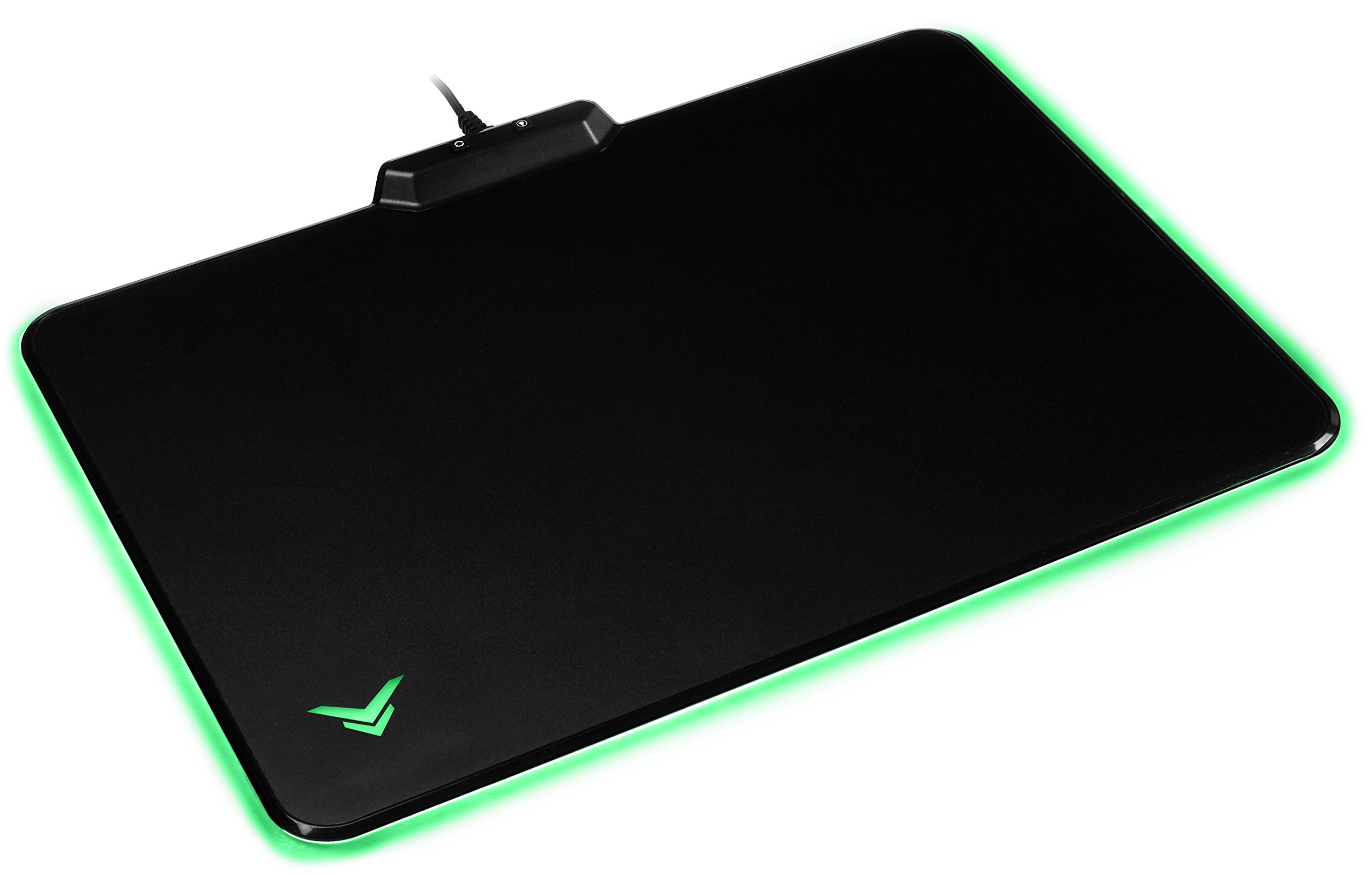 AmazonBasics Hard Gaming Mouse Pad with LED Lighting Effects by AmazonBasics