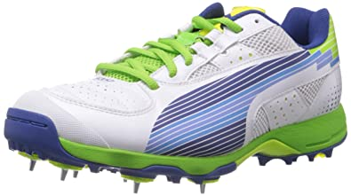 ab3975e28 Puma Men s Evospeed Cricket Spike White Sport Cricket Shoes - 8 UK India (42