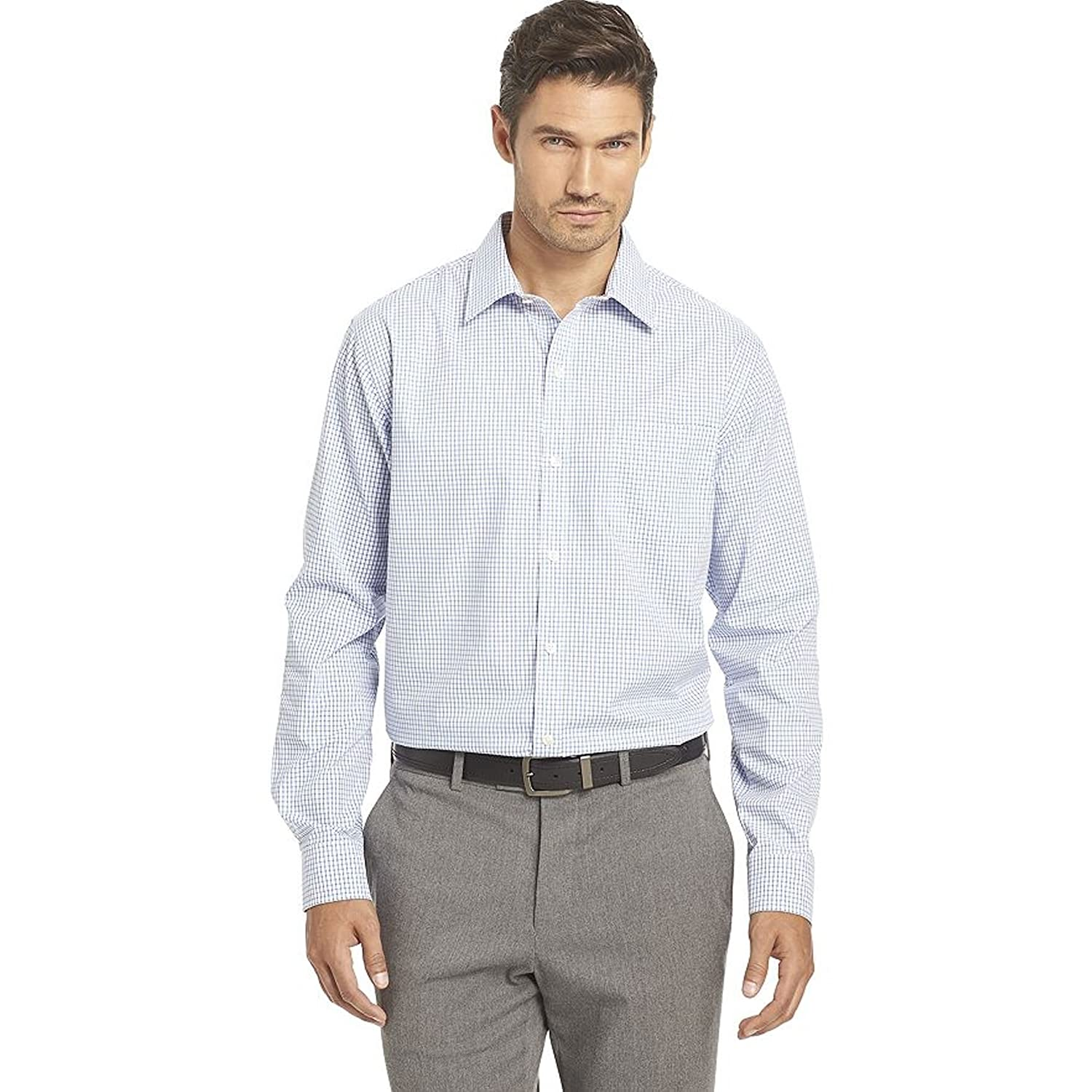 034a1e3f39266 Men s Van Heusen Traveler Stretch Classic Fit No Iron Shirt at Amazon Men s  Clothing store