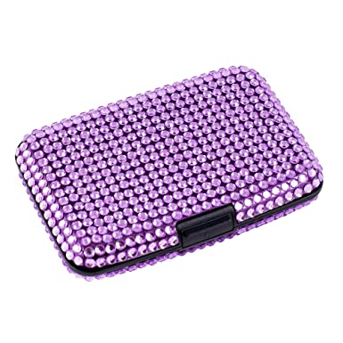 Rfid anti theft bling credit cardbusiness card caddy holder purple rfid anti theft bling credit cardbusiness card caddy holder purple colourmoves Image collections