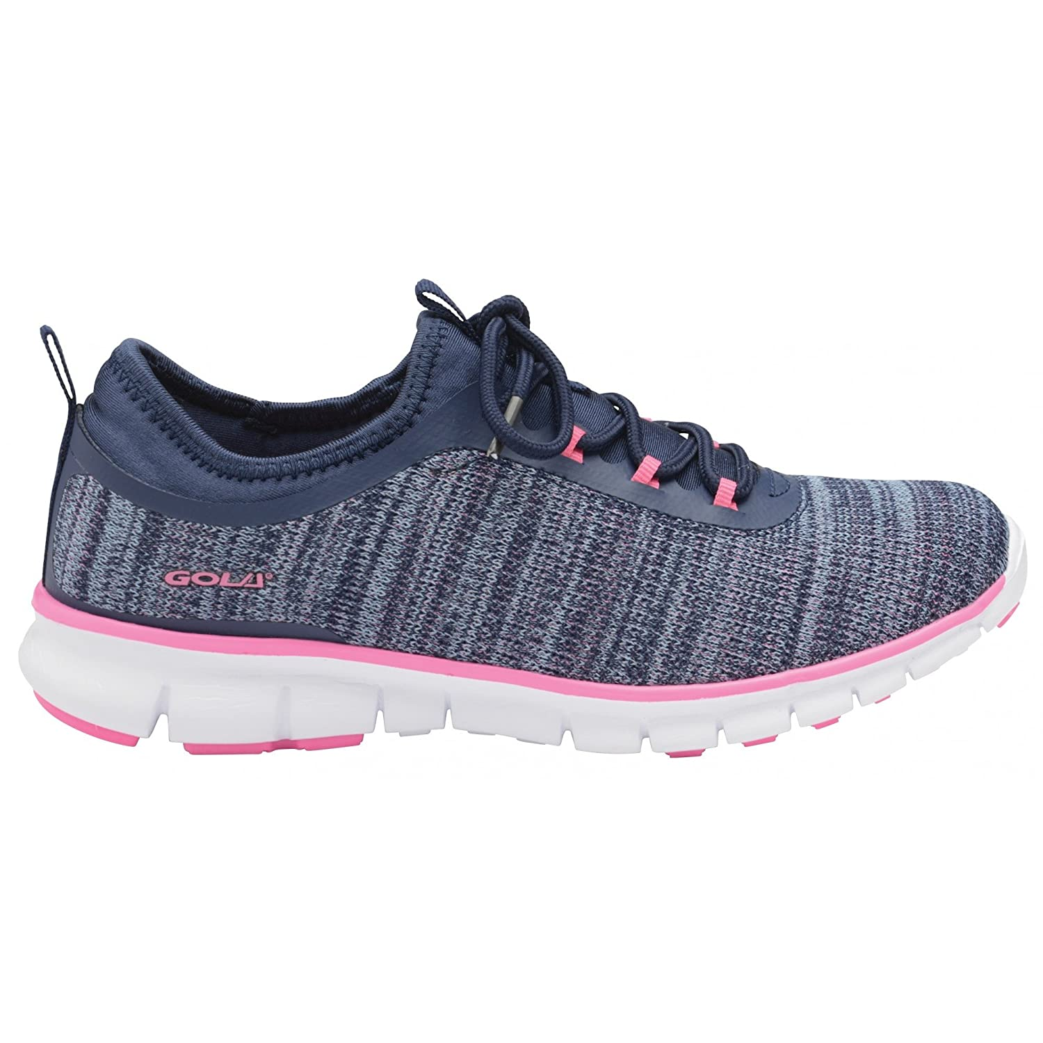 Amazon.com | Gola Womens/Ladies Lovana Sneakers (6 US) (Navy/Pink) | Fashion Sneakers