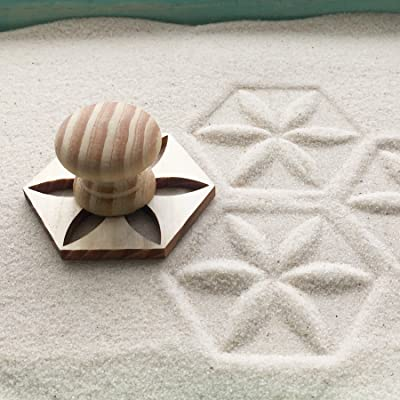 Mini Zen Garden Sand Stamps, Set of 8, for Relaxation and Meditation: Toys & Games