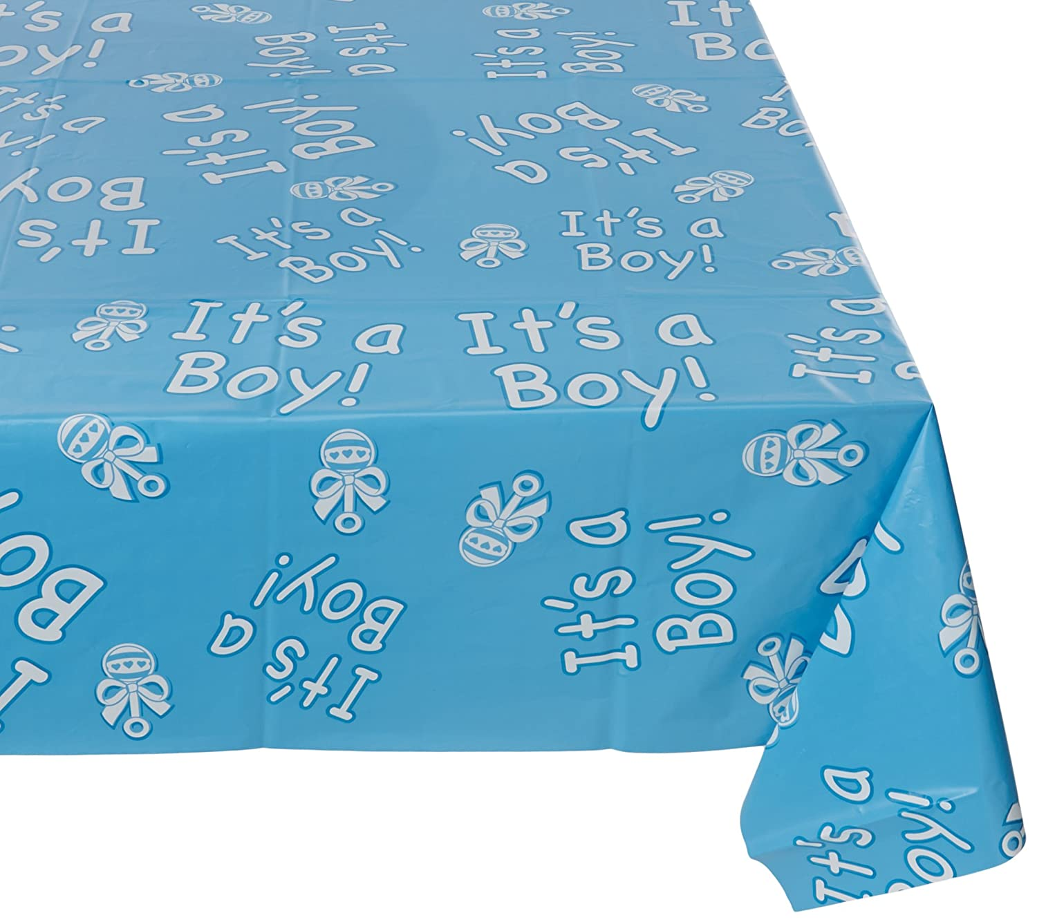 Beistle 57384 It's a Boy! Table Cover, 54-Inch by 108-Inch The Beistle Company