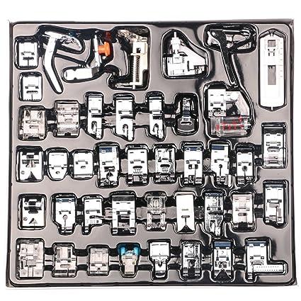 Nouvelife - Juego de 42 prensatelas para máquina de coser