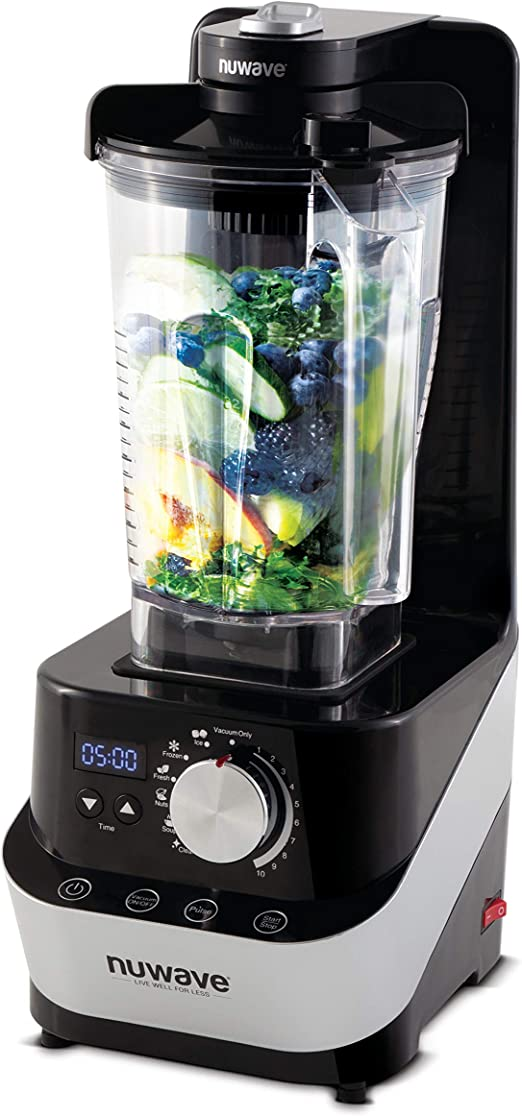 Nuwave Moxie Black Vacuum Blender With 64 Ounce Carafe Kitchen Dining