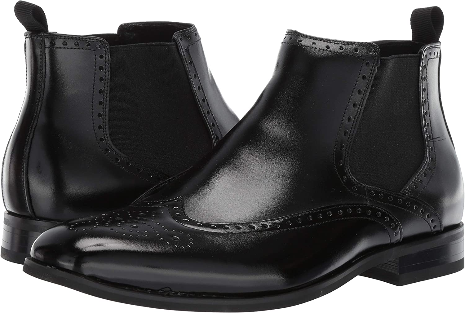 STACY ADAMS Mens Iverson Wingtip Chelsea Boot