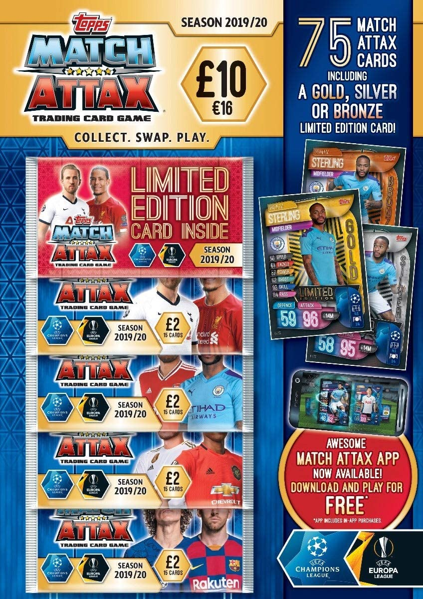 Topps Match Attax 2019/20 Trading Card Mega Multipack: Amazon.es: Juguetes y juegos