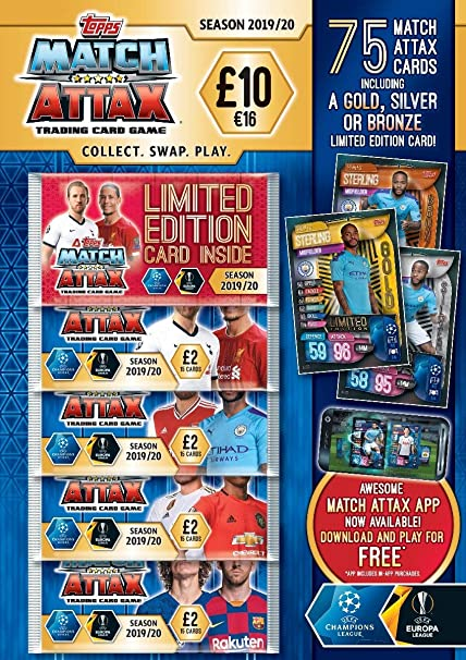 Mega Tin 2020 Card List.Topps Match Attax Mega Multi Pack 19 20 75 Cards Uk Edition