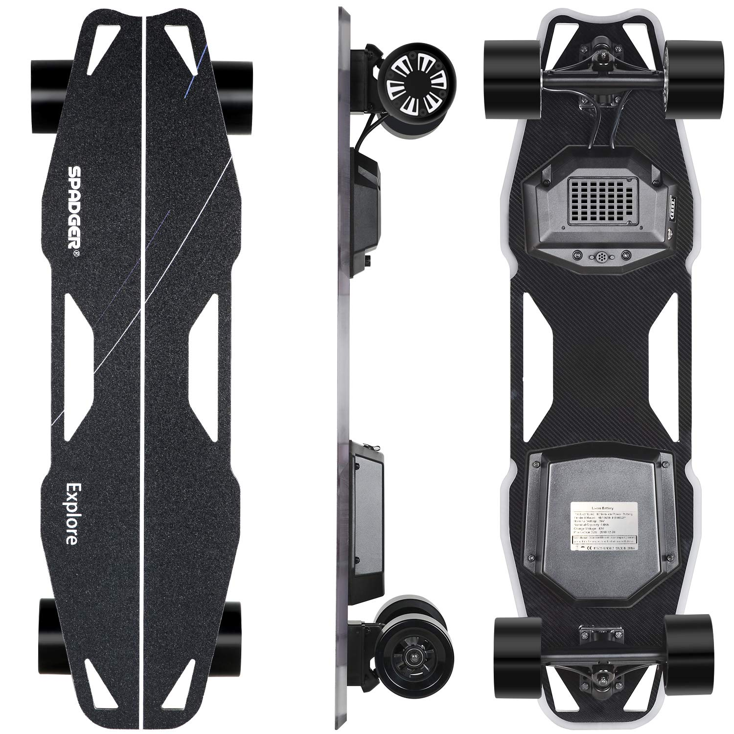 Spadger Electric Skateboard D5X Plus 35'' Boosted Longboard