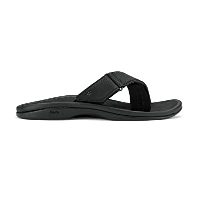 OluKai Women's Ohana Slide Black/Black Synthetic 5 Medium