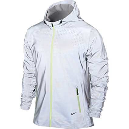 5ae45d6f80ce Amazon.com   NIKE MEN S FLASH ALLOVER JACKET 577584-070 AUTHENTIC Running HOODIE  3M Reflective size- small   Sports   Outdoors