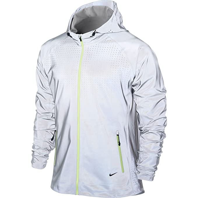 0502f3d5fd22 Nike Men s Flash Jacket - Small - Reflective Silver Black