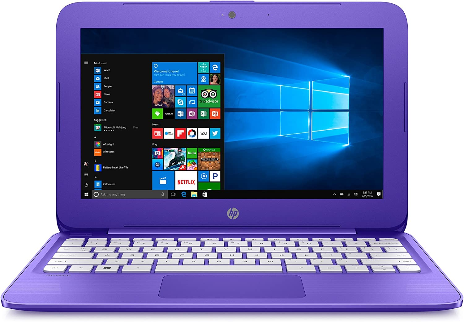 HP Stream Laptop PC 11-y020nr (Intel Celeron N3060, 4 GB RAM, 32 GB eMMC) with Office 365 Personal for one Year