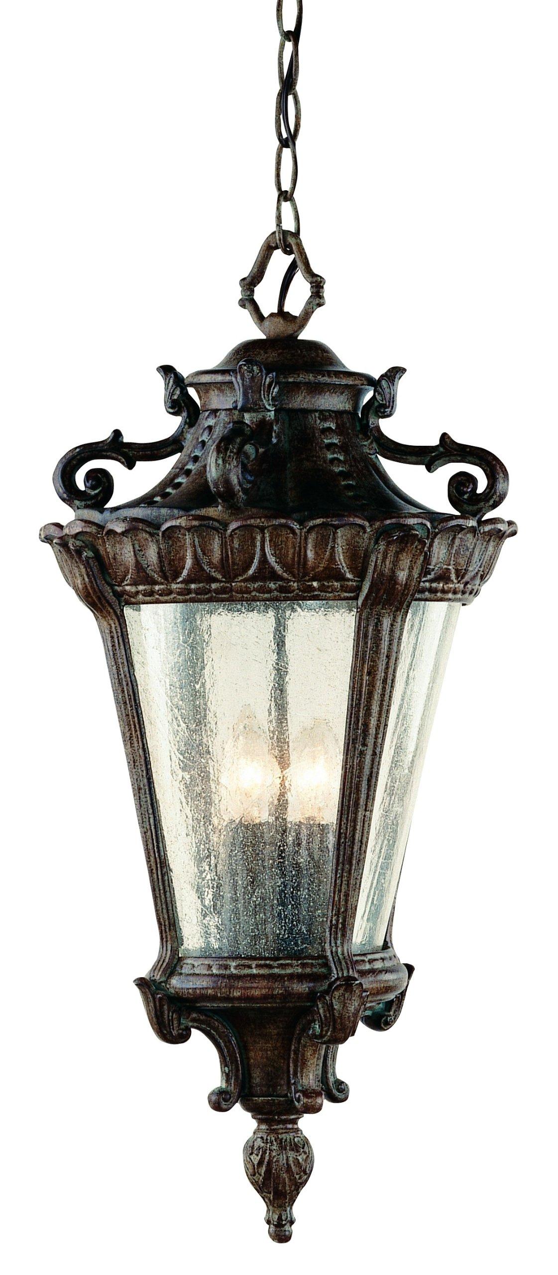 Trans Globe Lighting 4843 PA Outdoor Heritage 28.25'' Hanging Lantern, Patina