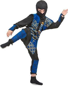 LUCIDA - Disfraz de ninja para niño, talla 7-9 años: Amazon.es ...