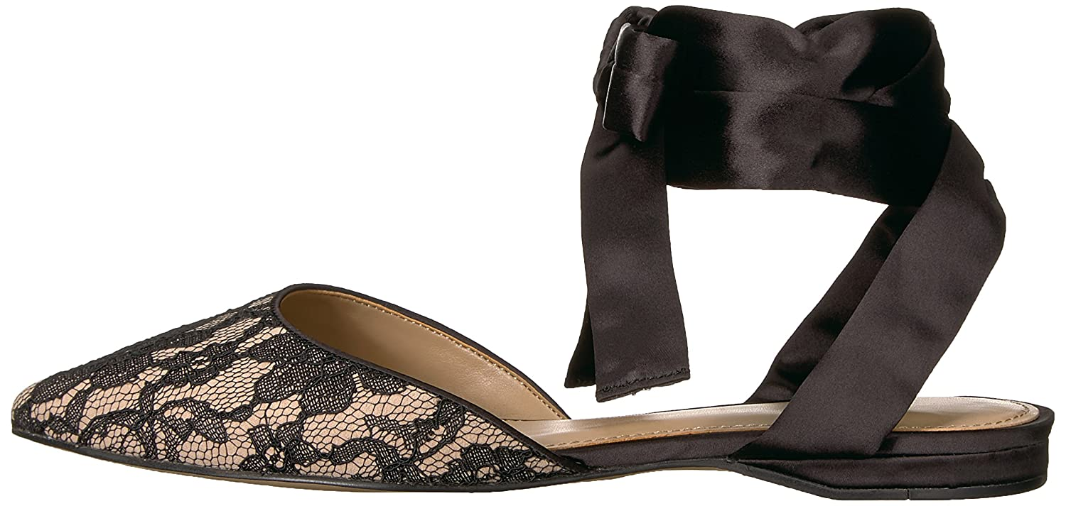 The Fix Womens Priscilla Pointed Toe Lace-up Ballet Flat