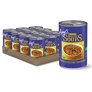 Amy's Soup, Vegan, Gluten Free, Organic Hearty French Country Vegetable, 14.4 Ounce (Pack of 12)