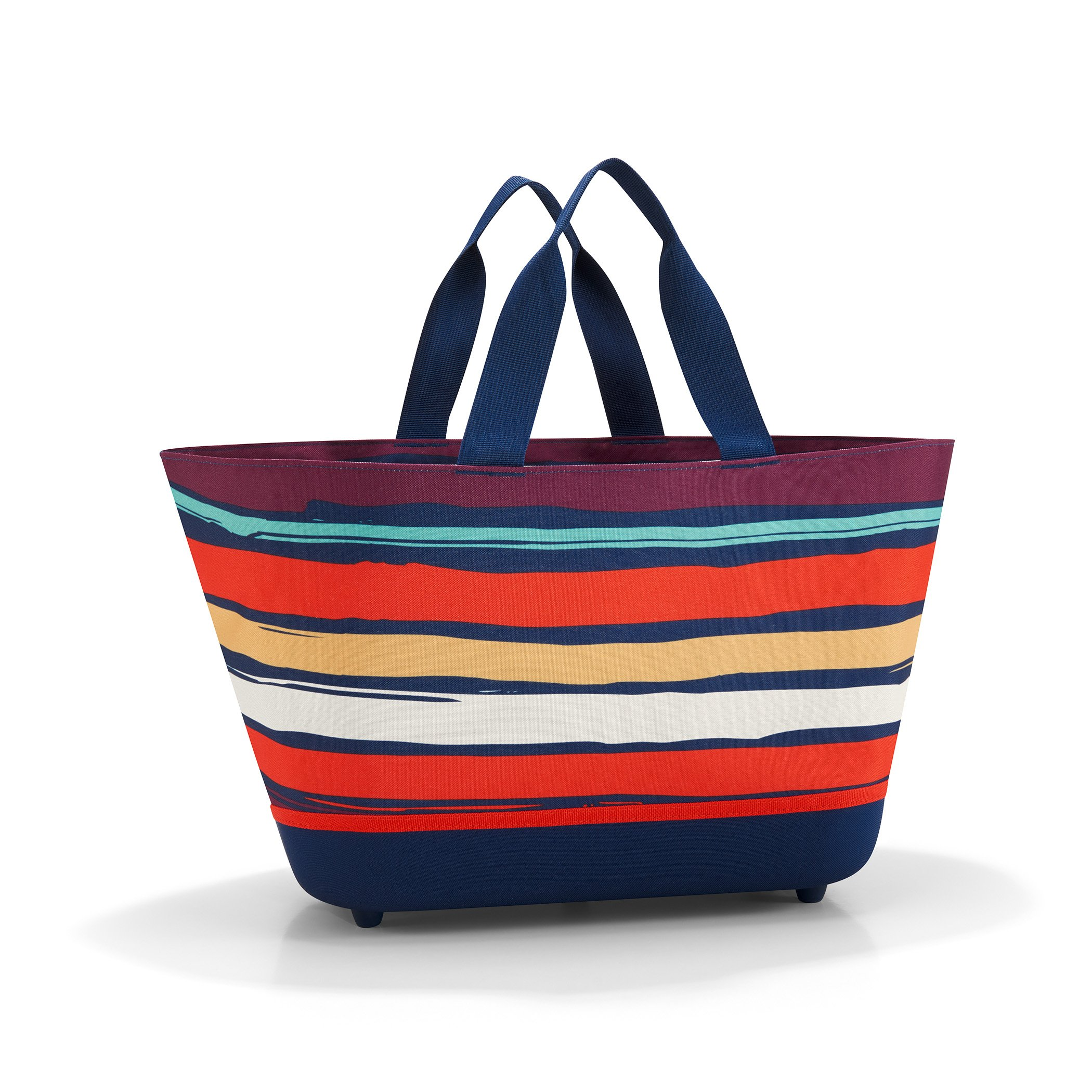 reisenthel Shopping Basket, Collapsible Oversized Fabric Tote, Artist Stripes