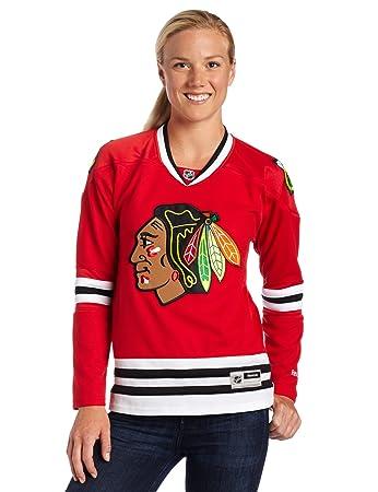 Chicago Blackhawks Women s NHL Reebok Red Premier Jersey  Amazon.co ... 275840ebf