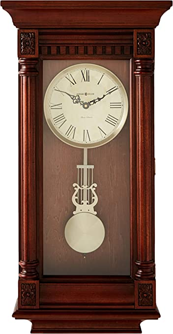 Howard Miller stainless steel wall clock model 625-207